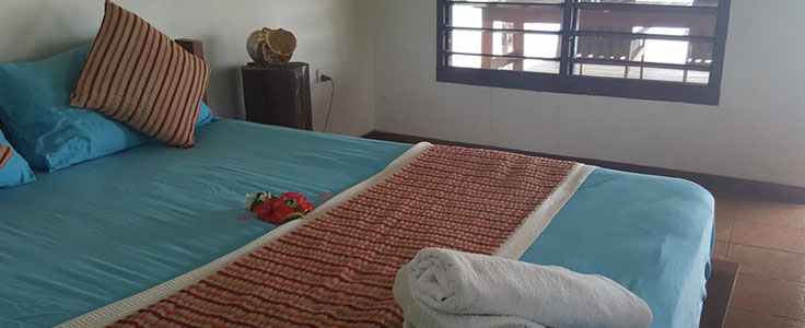 Accommodation bungalows - internal view.